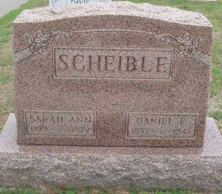 SCHEIBLE, SARAH ANN - Montgomery County, Ohio | SARAH ANN SCHEIBLE - Ohio Gravestone Photos