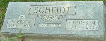 SCHEIDT, ELMER W - Montgomery County, Ohio | ELMER W SCHEIDT - Ohio Gravestone Photos