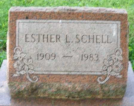 SCHELL, ESTHER L. - Montgomery County, Ohio | ESTHER L. SCHELL - Ohio Gravestone Photos