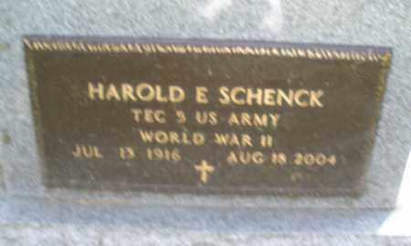 SCHENCK, HAROLD E. - Montgomery County, Ohio | HAROLD E. SCHENCK - Ohio Gravestone Photos