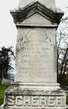 SCHERER, ANNA CHRISTINA - Montgomery County, Ohio | ANNA CHRISTINA SCHERER - Ohio Gravestone Photos