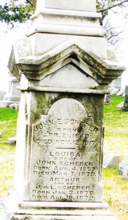 SCHERER, LOUISA - Montgomery County, Ohio | LOUISA SCHERER - Ohio Gravestone Photos