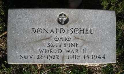 SCHEU, DONALD - Montgomery County, Ohio | DONALD SCHEU - Ohio Gravestone Photos