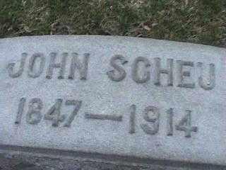 SCHEU, JOHN - Montgomery County, Ohio | JOHN SCHEU - Ohio Gravestone Photos