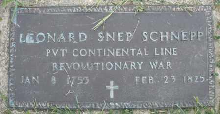 SCHNEPP/SNEP, LEONARD - Montgomery County, Ohio | LEONARD SCHNEPP/SNEP - Ohio Gravestone Photos