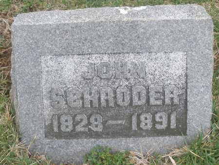 SCHRODER, JOHN - Montgomery County, Ohio | JOHN SCHRODER - Ohio Gravestone Photos