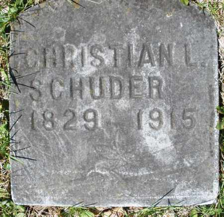 SCHUDER, CHRISTIAN L. - Montgomery County, Ohio | CHRISTIAN L. SCHUDER - Ohio Gravestone Photos