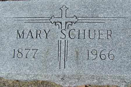 SCHUER, MARY - Montgomery County, Ohio | MARY SCHUER - Ohio Gravestone Photos