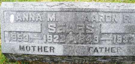 SEARS, ANNA M. - Montgomery County, Ohio | ANNA M. SEARS - Ohio Gravestone Photos