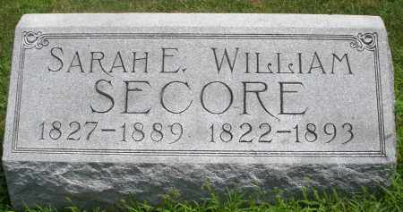 SECORE, SARAH E. - Montgomery County, Ohio | SARAH E. SECORE - Ohio Gravestone Photos