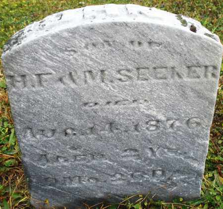 SEEKER, JOHN - Montgomery County, Ohio | JOHN SEEKER - Ohio Gravestone Photos