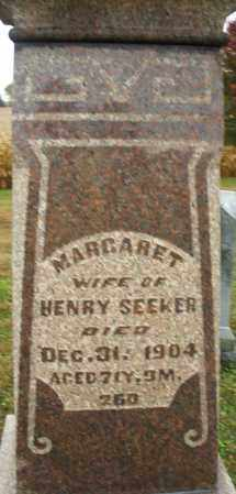 SEEKER, MARGARET - Montgomery County, Ohio | MARGARET SEEKER - Ohio Gravestone Photos