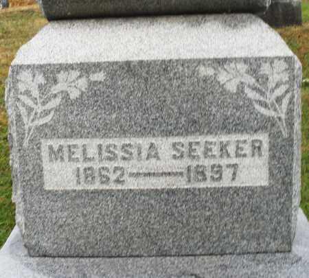 SEEKER, MELISSIA - Montgomery County, Ohio | MELISSIA SEEKER - Ohio Gravestone Photos