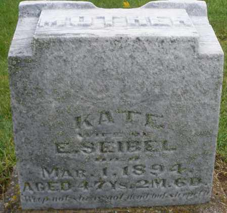 SEIBEL, KATE - Montgomery County, Ohio | KATE SEIBEL - Ohio Gravestone Photos