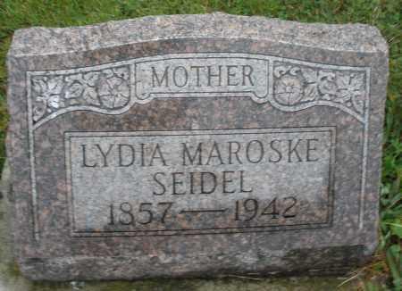 MAROSKE SEIDEL, LYDIA - Montgomery County, Ohio | LYDIA MAROSKE SEIDEL - Ohio Gravestone Photos