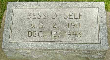 SELF, BESS D - Montgomery County, Ohio | BESS D SELF - Ohio Gravestone Photos