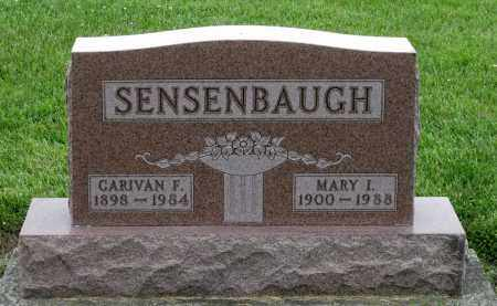 SENSENBAUGH, MARY I. - Montgomery County, Ohio | MARY I. SENSENBAUGH - Ohio Gravestone Photos