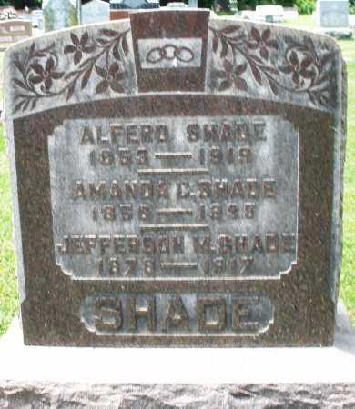 SHADE, ALFRED - Montgomery County, Ohio | ALFRED SHADE - Ohio Gravestone Photos
