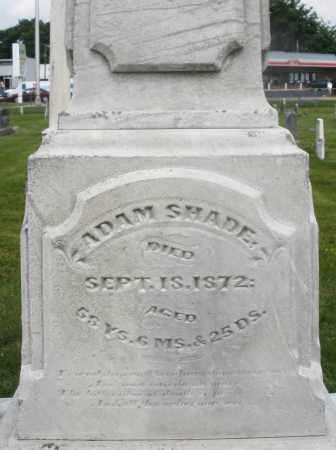 SHADE, ADAM - Montgomery County, Ohio | ADAM SHADE - Ohio Gravestone Photos