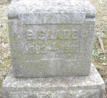 SHADE, E. - Montgomery County, Ohio | E. SHADE - Ohio Gravestone Photos