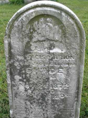 SHADE, FRANCIS MARION - Montgomery County, Ohio | FRANCIS MARION SHADE - Ohio Gravestone Photos