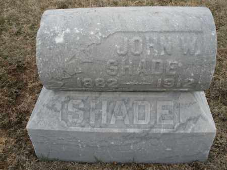 SHADE, JOHN W. - Montgomery County, Ohio | JOHN W. SHADE - Ohio Gravestone Photos