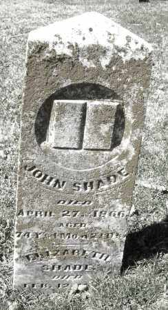 SHADE, JOHN - Montgomery County, Ohio | JOHN SHADE - Ohio Gravestone Photos