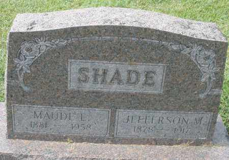 SHADE, MAUDE E. - Montgomery County, Ohio | MAUDE E. SHADE - Ohio Gravestone Photos