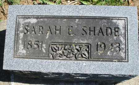 SHADE, SARAH E. - Montgomery County, Ohio | SARAH E. SHADE - Ohio Gravestone Photos
