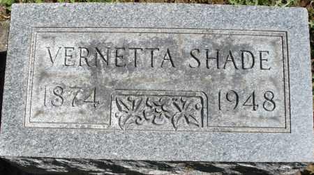 SHADE, VERNETTA - Montgomery County, Ohio | VERNETTA SHADE - Ohio Gravestone Photos