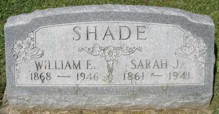 SHADE, WILLIAM E. - Montgomery County, Ohio | WILLIAM E. SHADE - Ohio Gravestone Photos