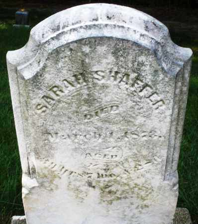 SHAFFER, SARAH - Montgomery County, Ohio | SARAH SHAFFER - Ohio Gravestone Photos