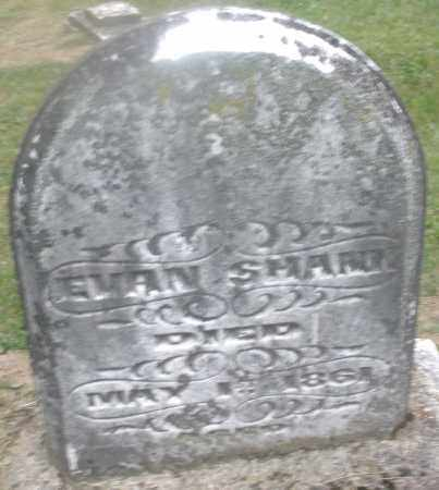 SHANK, EVAN - Montgomery County, Ohio | EVAN SHANK - Ohio Gravestone Photos