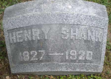 SHANK, HENRY - Montgomery County, Ohio | HENRY SHANK - Ohio Gravestone Photos