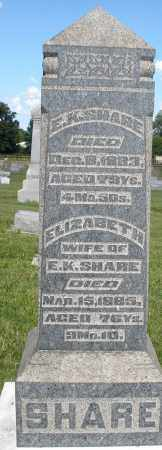 SHARE, E.K. - Montgomery County, Ohio | E.K. SHARE - Ohio Gravestone Photos