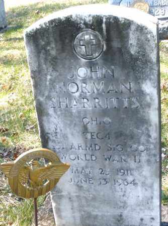 SHARRITTS, JOHN NORMAN - Montgomery County, Ohio | JOHN NORMAN SHARRITTS - Ohio Gravestone Photos