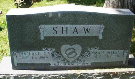 SHAW, MARY HELEN - Montgomery County, Ohio | MARY HELEN SHAW - Ohio Gravestone Photos