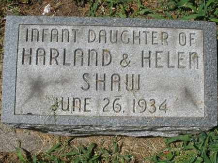 SHAW, INFANT DAUGHTER - Montgomery County, Ohio | INFANT DAUGHTER SHAW - Ohio Gravestone Photos