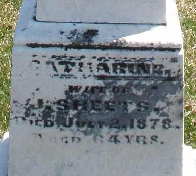 SHEETS, CATHARINE - Montgomery County, Ohio   CATHARINE SHEETS - Ohio Gravestone Photos