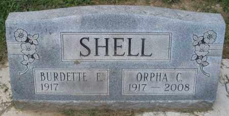 SHELL, BURDETTE E. - Montgomery County, Ohio | BURDETTE E. SHELL - Ohio Gravestone Photos
