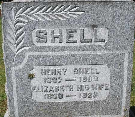 SHELL, ELIZABETH - Montgomery County, Ohio | ELIZABETH SHELL - Ohio Gravestone Photos
