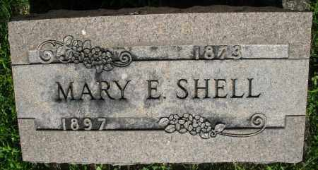 SHELL, MARY E. - Montgomery County, Ohio | MARY E. SHELL - Ohio Gravestone Photos