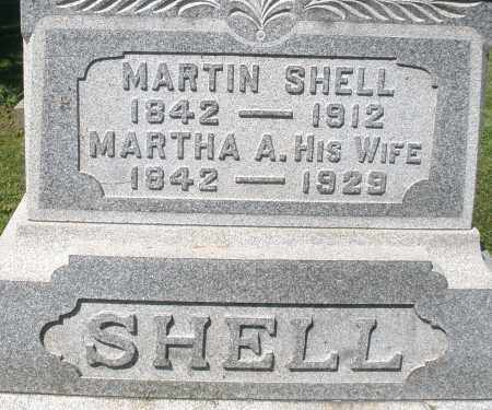 SHELL, MARTHA A. - Montgomery County, Ohio | MARTHA A. SHELL - Ohio Gravestone Photos