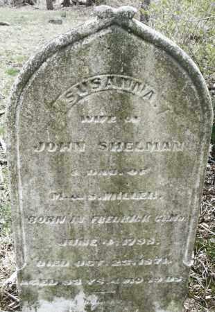 SHELMAN/SHELLMAN, SUSANNA - Montgomery County, Ohio | SUSANNA SHELMAN/SHELLMAN - Ohio Gravestone Photos