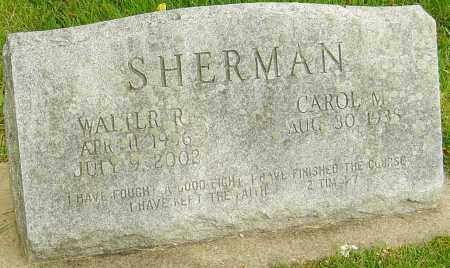 SHERMAN, WALTER R - Montgomery County, Ohio | WALTER R SHERMAN - Ohio Gravestone Photos