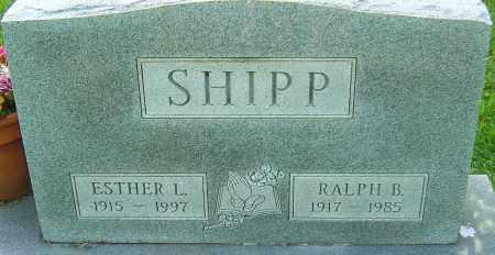 SHIPP, ESTHER L - Montgomery County, Ohio | ESTHER L SHIPP - Ohio Gravestone Photos