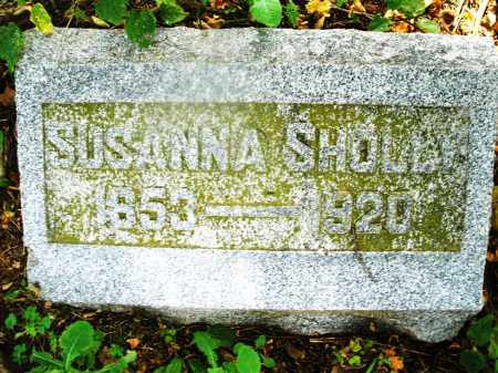 SHOLLY, SUSANNA - Montgomery County, Ohio | SUSANNA SHOLLY - Ohio Gravestone Photos