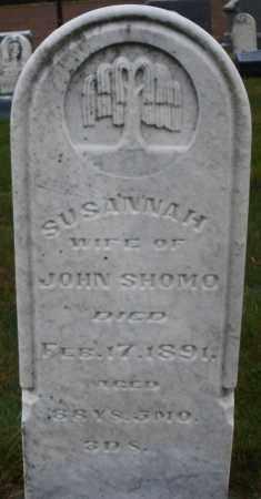 SHOMO, SUSANNAH - Montgomery County, Ohio | SUSANNAH SHOMO - Ohio Gravestone Photos
