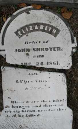 SHROYER, ELIZABETH - Montgomery County, Ohio   ELIZABETH SHROYER - Ohio Gravestone Photos