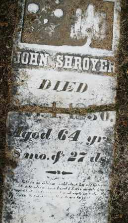 SHROYER, JOHN - Montgomery County, Ohio | JOHN SHROYER - Ohio Gravestone Photos